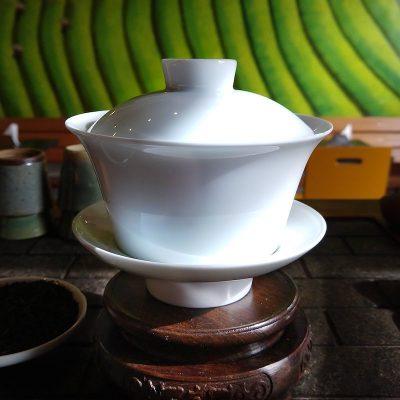 Gai Wan de porcelana branca Chá Yê!