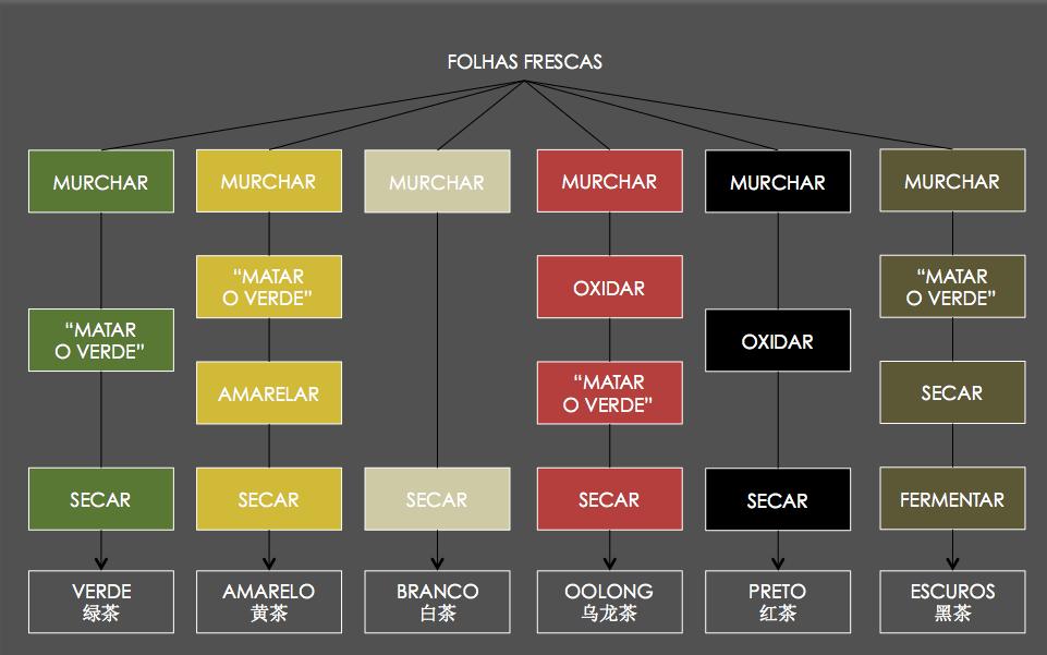 Processos básicos na produção de chás especiais