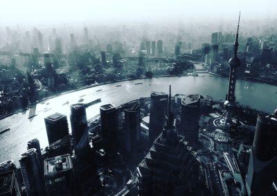 Vista do topo da Shanghai Tower