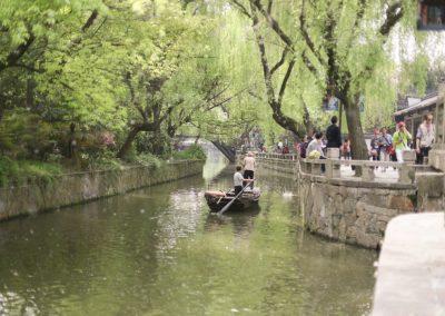 Gôndolas pelos canais de Nanxun