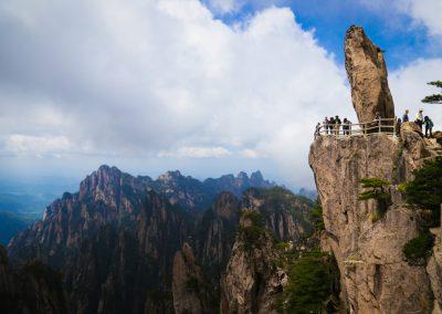 A Pedra Voadora, no topo da Montanha Amarela, durante o Tour Imperial 2016