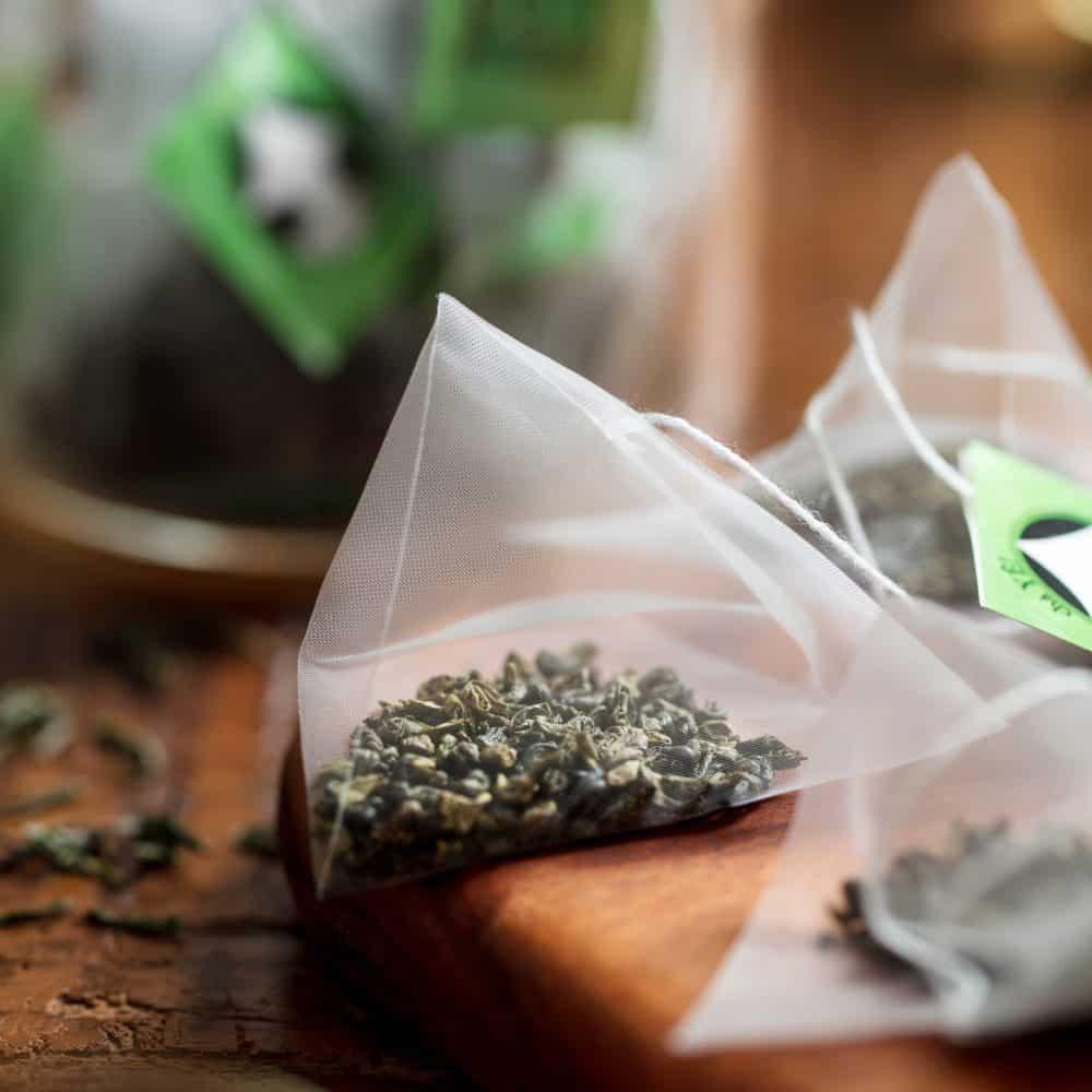 Gunpowder, chá verde em sachês piramidais