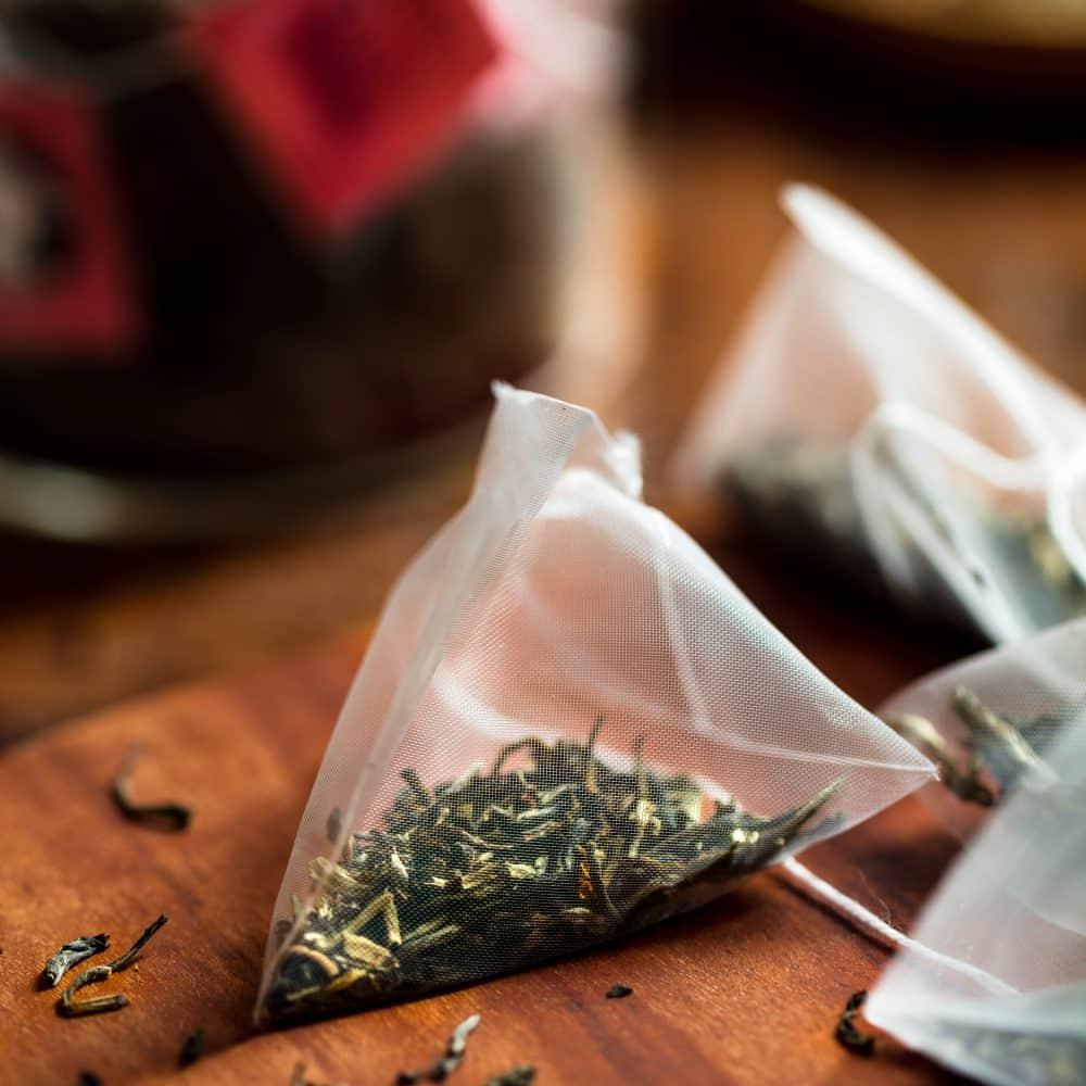 White Cloud Jasmine, chá de jasmim em sachês piramidais